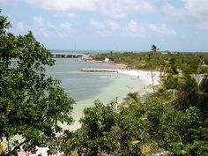 Bahia Honda State Park in Florida. Golden sand, good swimming and snorkelling, and the opportunity to view rare plants, eagle rays, jackfish and the occasional nurse shark.