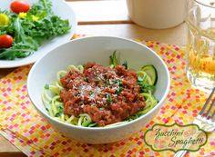Looking for a low carb alternative to pasta? Try replacing your spaghetti noodles with zucchini. #lowcarb #MyAllrecipes #AllrecipesFaceless #zucchini #spaghetti