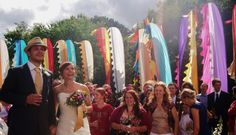 Festival flags wedding ... this would be great for music buffs  Couldn't agree more!