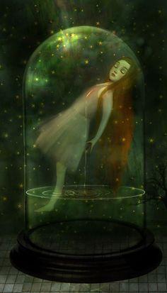 """Sorrow Seeping While She's Sleeping"" by Lisa Falzon (meluseena @ DeviantArt.com) (© 2011)"