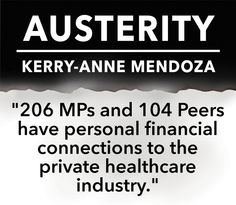 Austerity by Kerry-anne Mendoza may be one of the most important books you will ever read, as it helps to give a voice to campaigns of resistance, and democratic alternatives. #NHS #SaveOurNHS #NHScritical #austerity #election2015