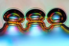 Air Bubbles Formed From Melted Ascorbic Acid (Vitamin C) Crystals