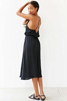 Alice X UO Bibi Satin Midi Dress - Urban Outfitters