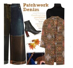 """Tricky Trend: Patchwork Denim"" by junglover ❤ liked on Polyvore featuring Marco de Vincenzo, Maison Margiela and Topshop"