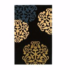 Home Decorators Collection Chadwick Black and Gold 5 ft. Round Rug-0006130240 at The Home Depot