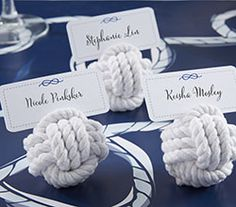 Love monkey knots for escort card holders