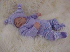 Baby Knitting Pattern Download PDF by PreciousNewbornKnits #etsy #baby# #knittingpattern #reborndolls