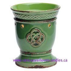 """Did you know that St. Patrick's Day is a holy day in Ireland? Whether holy or just a day of fun with wearing green, having an """"Irish"""" meal or drinking green beer, tie it all together with this absolutely beautiful warmer Celtic Love Knot!   Visit my site for more information on how to order this or any of other the wonderful Scentsy products including our new line of bath/body and laundry items! https://jenniferkaiser.scentsy.ca/Home"""