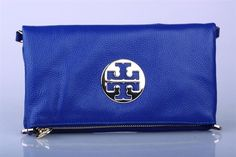 Tory Burch Crinkle Foldover Chain Clutch Blue Tory Burch Boots, Tory Burch Sandals, Tory Burch Bag, Tory Burch Outlet, Bags 2015, Black Friday Deals, Continental Wallet, Zip Around Wallet, Purses