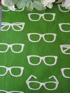 Hard to find- Eyeglass Print on Fabric Etsy
