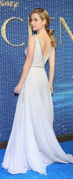"""Lily James """"Cinderella"""" Premiere ice Blue Gown: Channels Disney Princess In Glamorous Dress Source by Tessa__Gray Dresses Hollywood Dress, Hollywood Fashion, Hollywood Glamour, New Cinderella, Cinderella Dresses, Actress Lily James, Prada Dress, Glamorous Dresses, Blue Gown"""