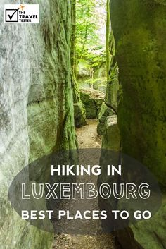 """The Best Place for Hiking in Luxembourg I also discovered a popular spot for nature lovers in this small country in between Belgium, France and Germany, called """"Petite Suisse"""" (Small Switzerland) The Travel Tester- Self-Development Trough Travel: Places To Travel, Places To See, Hiking Europe, Travelling Europe, Camping For Beginners, Camping Spots, Hiking Tips, Outdoor Travel, Day Trip"""