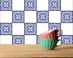 Tile Stickers 24 PC Set Authentic Traditional Portuguese Bathroom ...
