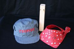 Personalized Train Hat, Bandana, And Wood Train Whistle (3 Piece Set)