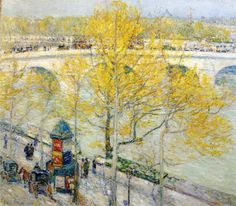 Pont Royal, Paris - Childe Hassam - WikiPaintings.org