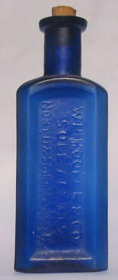 cobalt blue bottles.  when I was little I went shard hunting in the creek, and bottle hunting at antique dump sites...cobalt glass, always a favorite