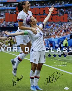 At Sports Integrity, we sell authentic, autographed sports memorabilia from your favorite teams and players Team Usa, A Team, Carli Lloyd, World Cup Champions, Funny Sports Pictures, Megan Rapinoe, Award Winning Photography, Alex Morgan, Soccer Training