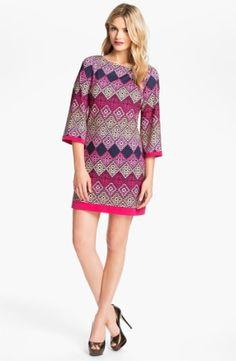 Eliza J Diamond Print Jersey Shift Dress $118.0 by magdalena