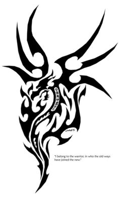 Tribal Dragon Tattoo: