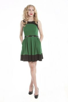 Cut Out Back Colorblock Ponte Dress | Lavo Collections