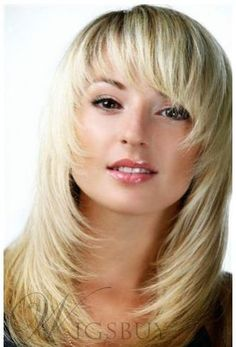 Medium Choppy Layered Cool Straight Natural Unique High Quality Synthetic Hair Wig 14 Inches
