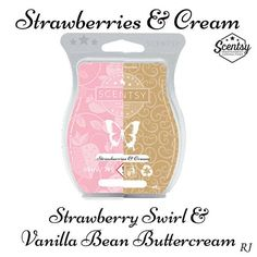 scentsy strawberry swirl and scentsy vanilla bean buttercream mixology receipe