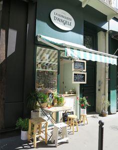 Paris lunch spot at Close to rue du louvre  | La guinguette d'Angèle