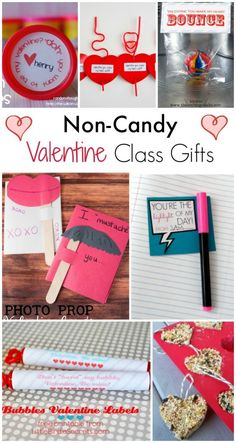 Non Candy Valentines for Class
