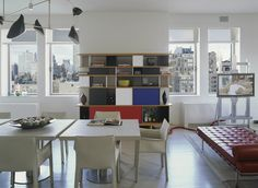 Apartment by Bruce Bierman featuring art and furniture by Sonia Delaunay | Designers Collaborative