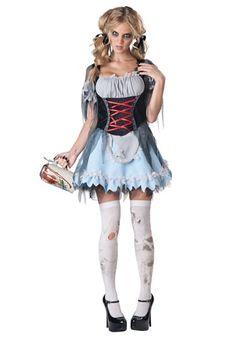 Zombie Beer Maiden Costume aka Goldie Locks for Halloween
