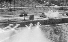 HARVS on the way in to their target fired by a P-47.