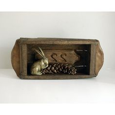 Wood Brick Mold, Primitive Brazilian Mold, Carved Wood Shelf,... ($78) ❤ liked on Polyvore featuring home, home decor and small item storage