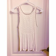American Eagle tank top rose gold detail Great for summer! Floral detail on the front and keyhole slit in the back. Rose gold lining. American Eagle Outfitters Tops Tank Tops