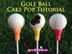 How to Make Golf Ball Cake Pops via @Hieu Le Sized Baker Love this idea for fathers day or my dads birthday!!