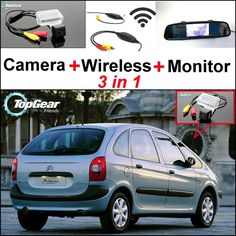 77.13$  Watch here - http://aliax9.shopchina.info/go.php?t=32469798627 - 3in1 Special Rear View Camera + Wireless Receiver + Mirror Monitor Easy DIY Backup Parking System For Citroen Xsara Picasso MPV 77.13$ #buyininternet