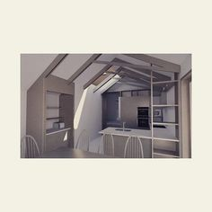 Developing Scheme | Internal Render - a rear extension to an end of terrace. Expressed structure and ample daylighting maximises a sense of open-ness whilst allowing the massing to be snug on the boundaries and sit comfortably with the existing cottage aesthetic. #kitchen #extension #architecture #dontmoveimprove #joinery #timber #render #studioSH Rear Extension, Joinery, Terrace, Snug, Extensions, Cottage, Architecture, Kitchen, Instagram