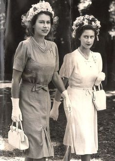 Princesses Elizabeth and Margaret