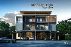 Homedeedeeforyou - แบบบ้านแฝด 3 ชั้น สไตล์โมเดิร์น บ้านสวยที่ออกแบบอย่างลงตัว จาก Advance home