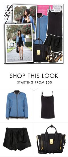 """""""Denim Bomber Jacket"""" by amara-fiara ❤ liked on Polyvore featuring Goldie, Paul Smith, Abercrombie & Fitch, 3.1 Phillip Lim and Isaac Mizrahi"""