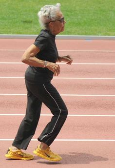 Ida Keeling at 97 becomes oldest American female sprinter .... my goal in life, to be as active & healthy as she!
