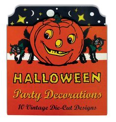 1930's Cats Decorative Arts Halloween Home Illustrator: Laughing Elephant Imprint: Laughing Elephant Jack-o-Lanterns Witches'