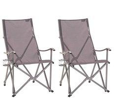 2 COLEMAN Ergonomic Patio Lawn Outdoor Sling Camping Folding Chairs W Bag  U003eu003eu003e You