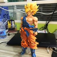 Dragon Ball Z Super Saiyan Son Goku 34CM Figure Manga Color Toy No Box