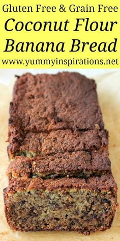 Gluten Free Banana Bread With Coconut Flour - Easy & Healthy Recipe Gluten Free Banana Bread With Coconut Flour – Quick, Easy & Healthy Banana Bread Recipe using coconut flour and other grain free ingredients. Coconut Flour Recipes Quick, Coconut Flour Banana Bread, Gluten Free Banana Bread, Vegan Banana Bread, Healthy Banana Bread, Paleo Recipes Easy, Gluten Free Baking, Keto Bread, Gluten Free Grains