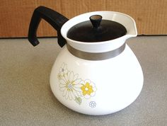 Vintage Coffee Pots For Sale | Vintage Corning Ware 6 Cups Coffee Tea Pot by npebaysale on Etsy