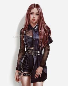 Black Pink Yes Please – BlackPink, the greatest Kpop girl group ever! Blackpink Fashion, Fashion Models, Fashion Outfits, Fashion Design, Kpop Girl Groups, Kpop Girls, Illustration Mode, Black Pink Kpop, Digital Art Girl