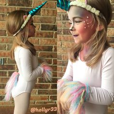 Toddler unicorn costume. Halloween costume for kids. Unicorn makeup.(Princess Diy Costume)