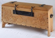 wooden viking chest - Google Search