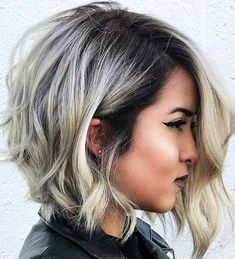 50 Edgy Asymmetrical Haircuts For Women To Get in 2019 - Wavy Asymmetrical Bob – Best Asymmetrical Haircuts For Women: Sexy and Edgy Lopsided Uneven Hairstyles Messy Bob Hairstyles, Edgy Haircuts, Short Hairstyles For Thick Hair, Haircut For Thick Hair, Short Bob Haircuts, Wedding Hairstyles, Uneven Bob Haircut, Long Asymmetrical Haircut, Medium Asymmetrical Hairstyles