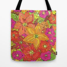 Autumn Floral Tote Bag by Lisa Argyropoulos - $22.00